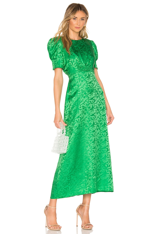 SALONI Bianca Dress in Leaf Green