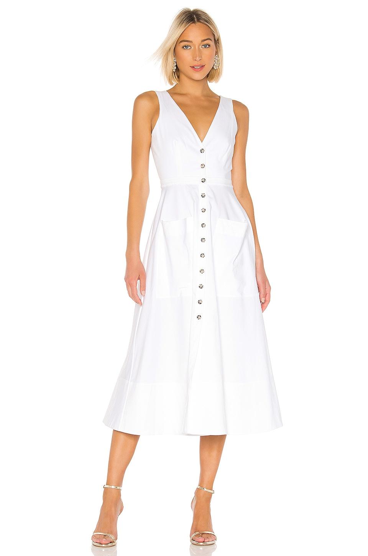 SALONI Zoey Cutout Dress in White