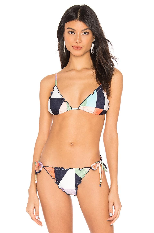 Salinas Triangle Bikini Top in Floor