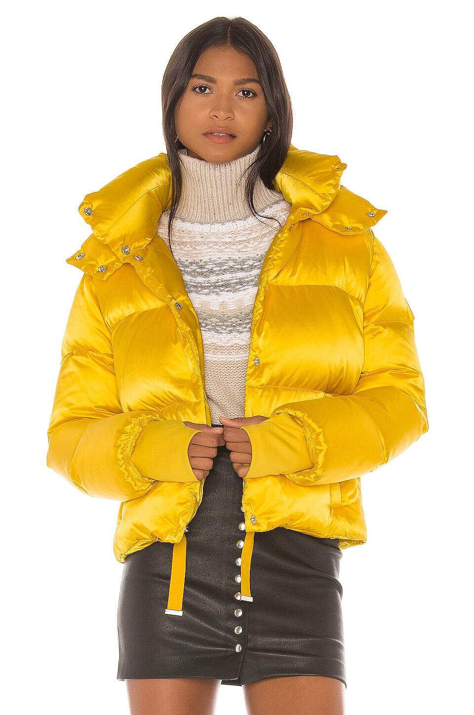 SAM. Satin Sydney Puffer Jacket in Daffodil
