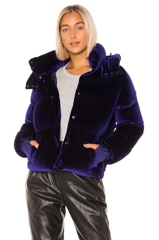 SAM. Velvet Sydney Puffer Jacket in Sapphire