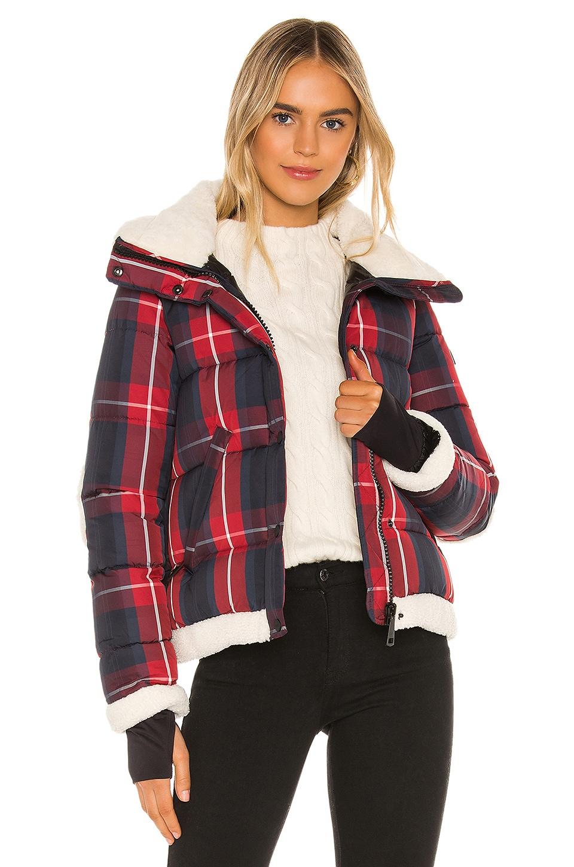 SAM. Mackenzie Puffer Jacket in Red Plaid