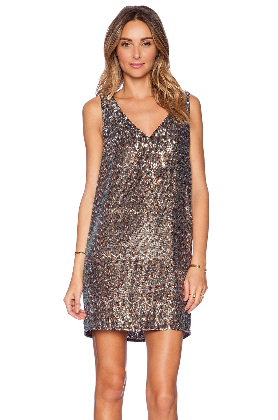 Sam Edelman V-Neck Sequin Dress in Multi | REVOLVE