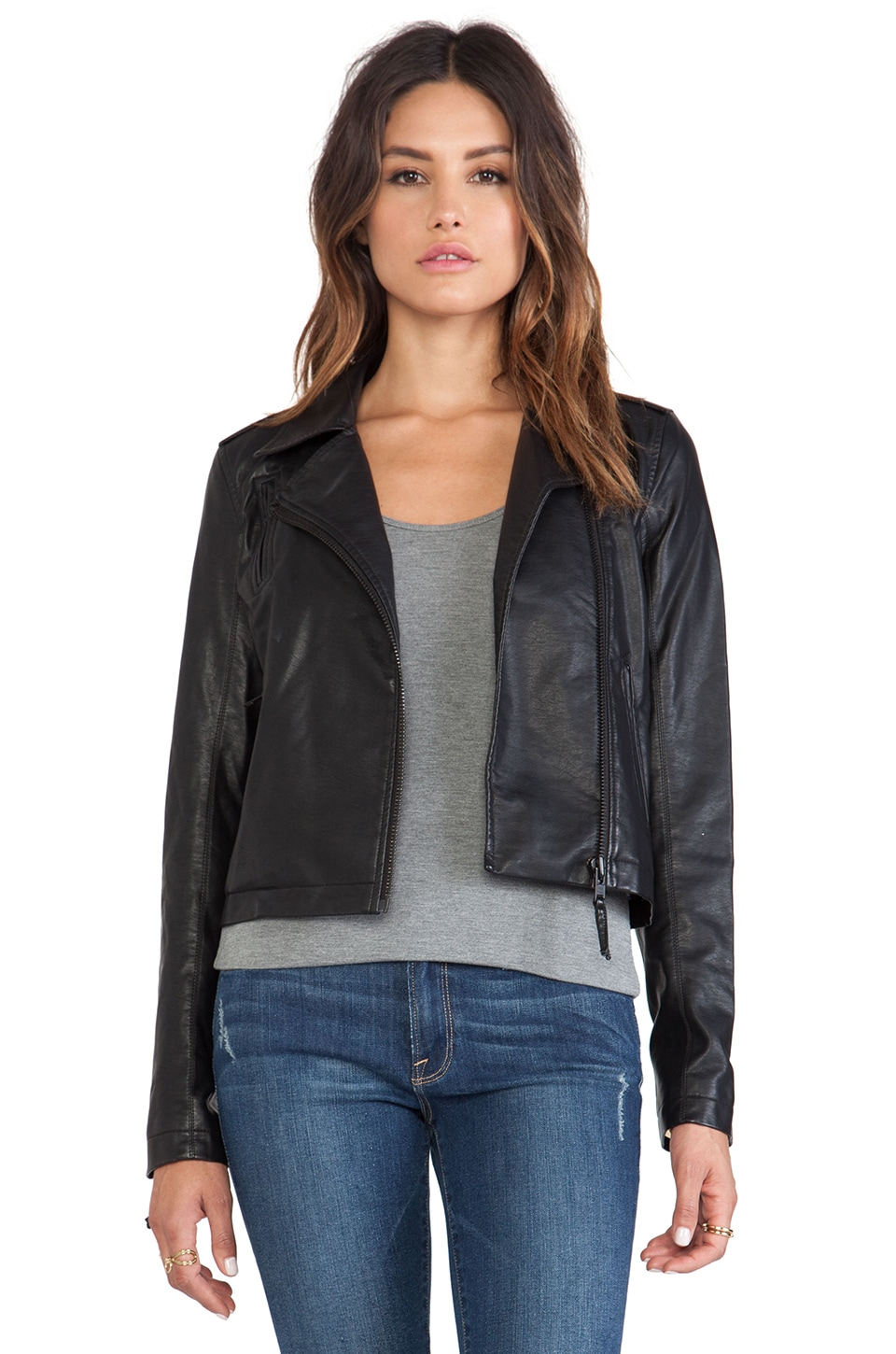 Sam Edelman Vegan Moto Jacket in Black