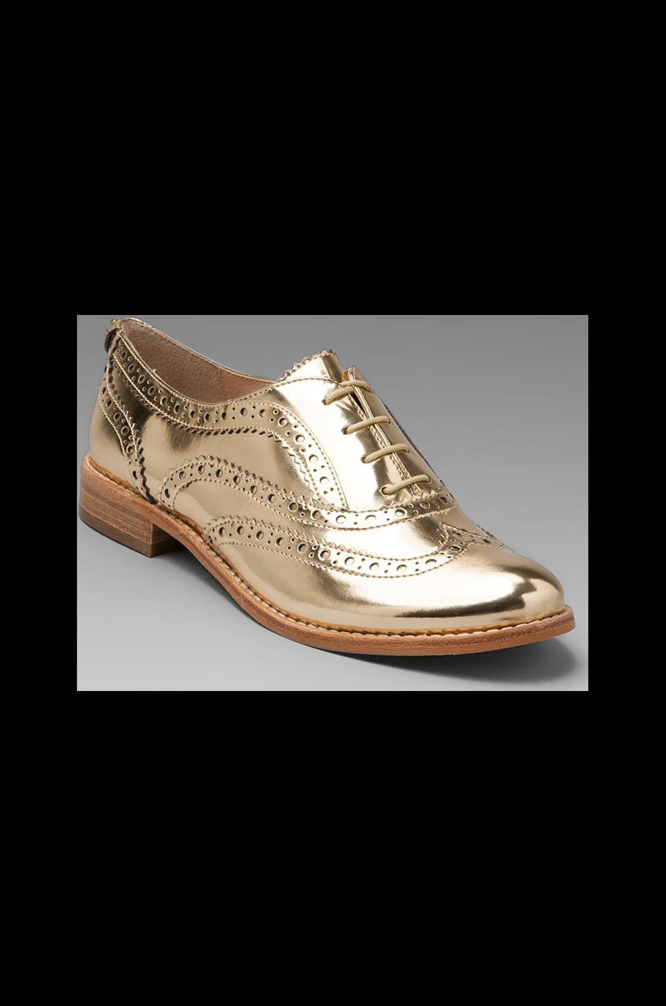 Sam Edelman Jerome Oxford Flat in Effegi Gold