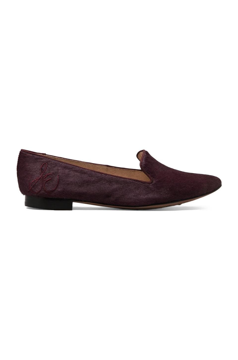Sam Edelman Alvin Loafer with Calf Hair in British Burgundy