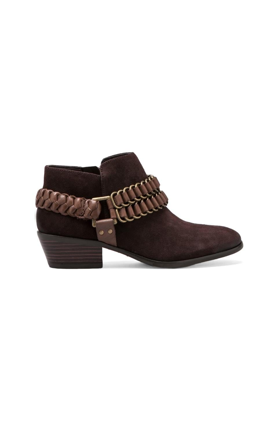 Sam Edelman Posey Bootie in Espresso Bean/Teak Brown