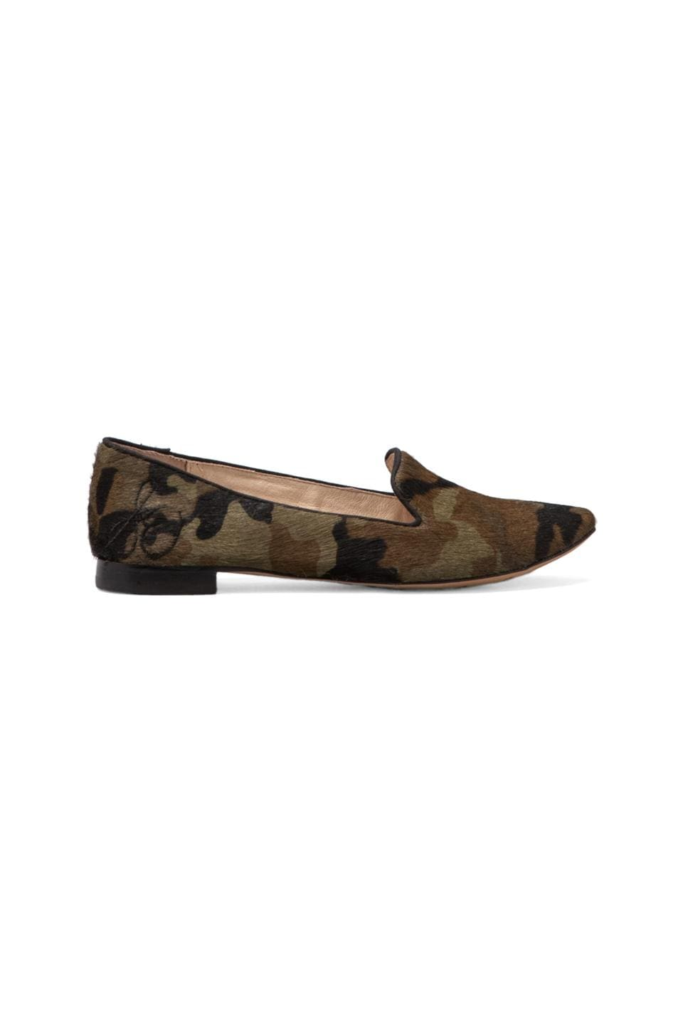 Sam Edelman Alvin Flat with Calf Hair in Olive