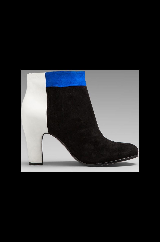 Sam Edelman Shay Bootie in Black/Bright Blue/Snow White