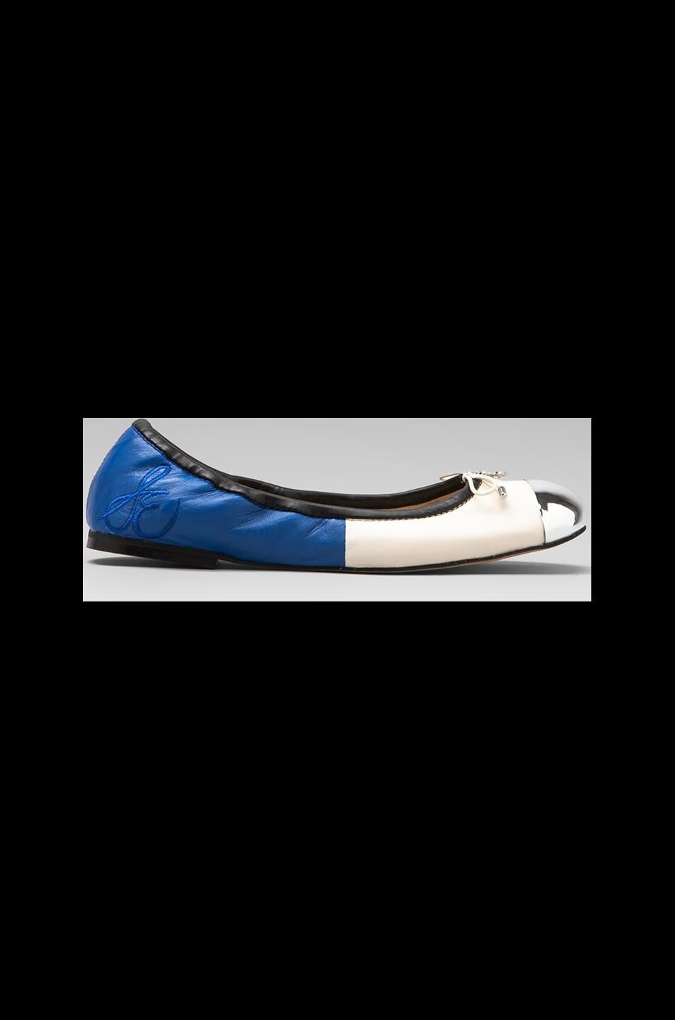 Sam Edelman Fairleigh Flat in Ice White/Bright Blue
