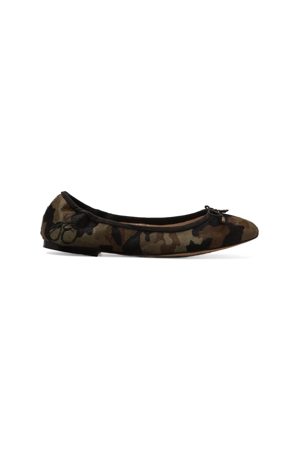 Sam Edelman Felicia Flat with Calf Hair in Olive