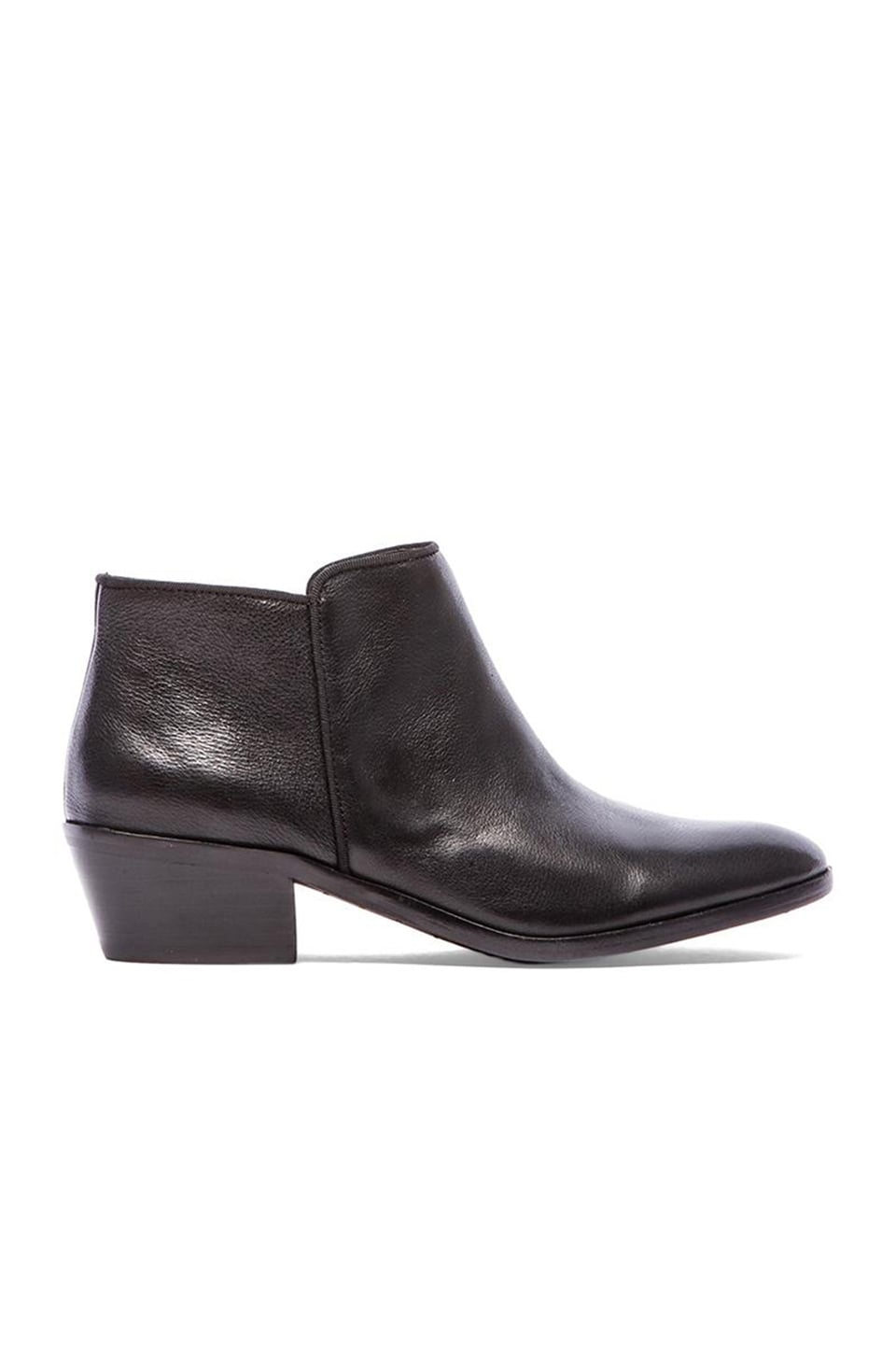 Sam Edelman Petty Bootie in Black Vintage Leather