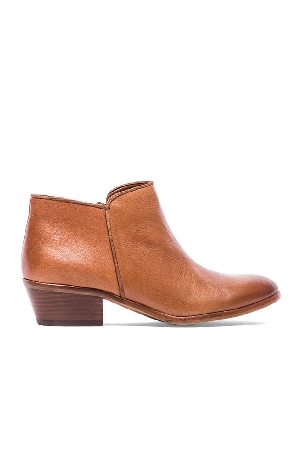 Sam Edelman Petty Bootie in Deep Saddle Vintage Leather