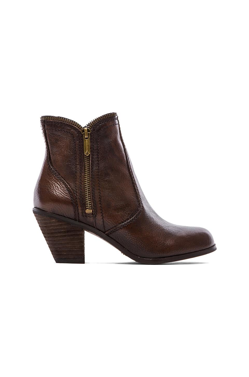 Sam Edelman Linden Bootie in Dark Brown