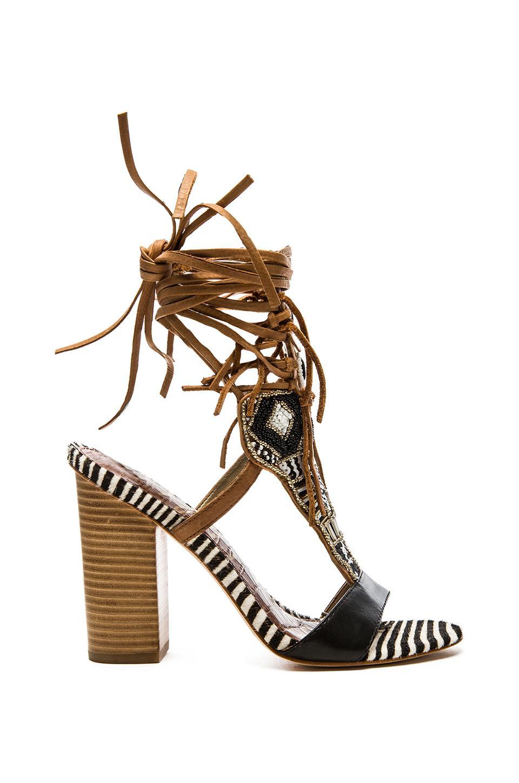 Sam Edelman Yates Heel in Black & Soft Saddle