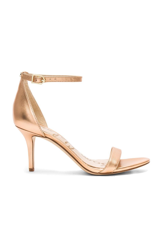 5c0f27f6551b Sam Edelman Patti Heel in Golden Copper Leather