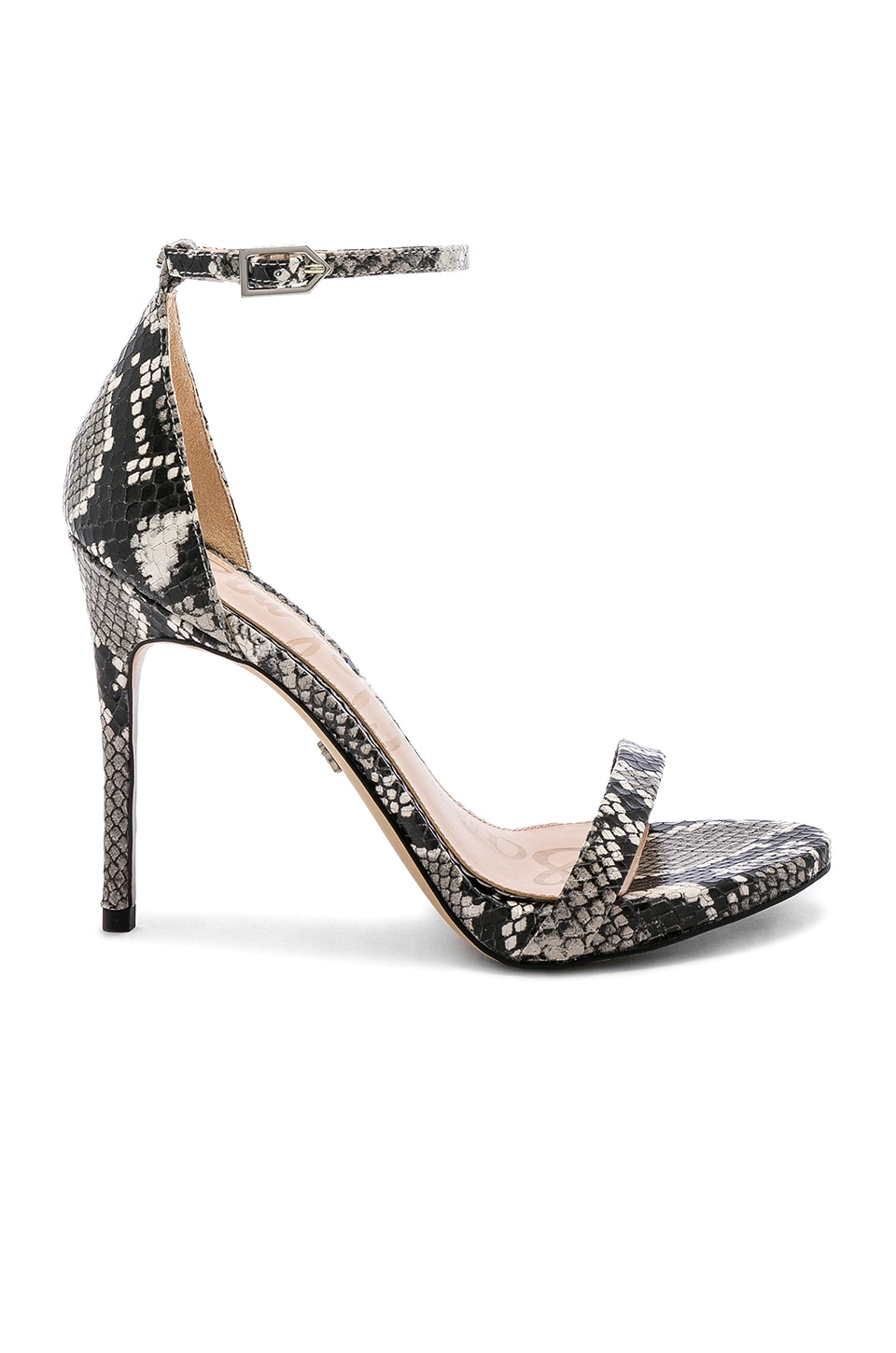 Sam Edelman Ariella Heel in Black & White Snake Multi