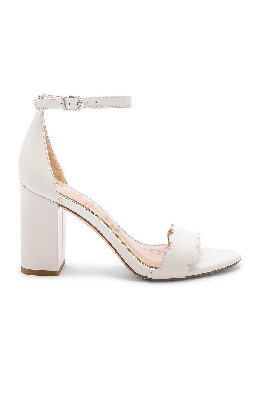 Sam Edelman Odila Heel in White Leather