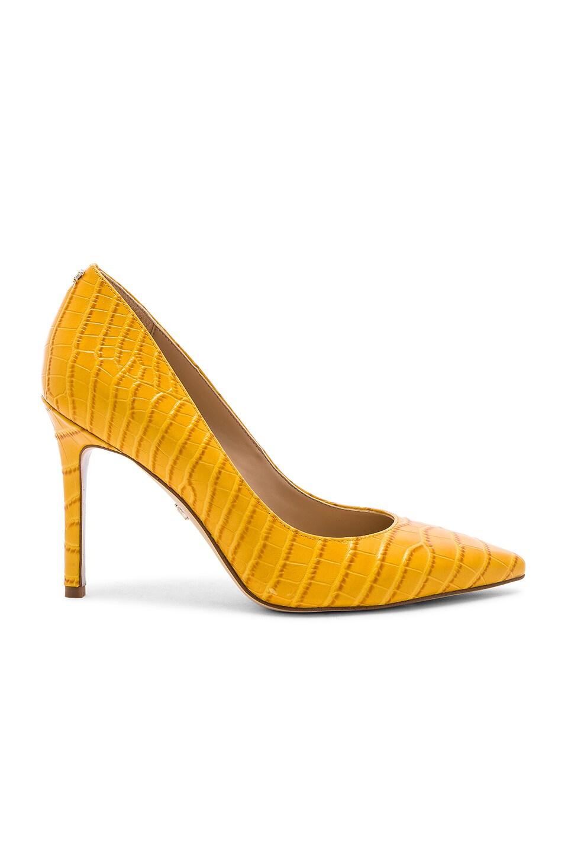 Sam Edelman Hazel Heel in Yellow Crocco