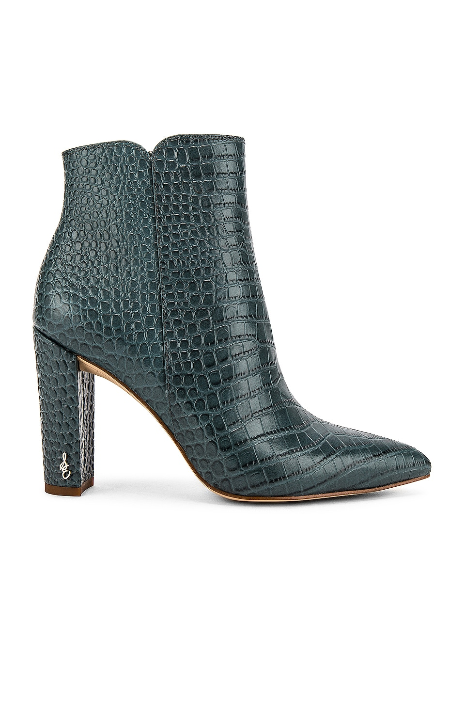 Sam Edelman Raelle 2 Bootie in Grey Iris Croco