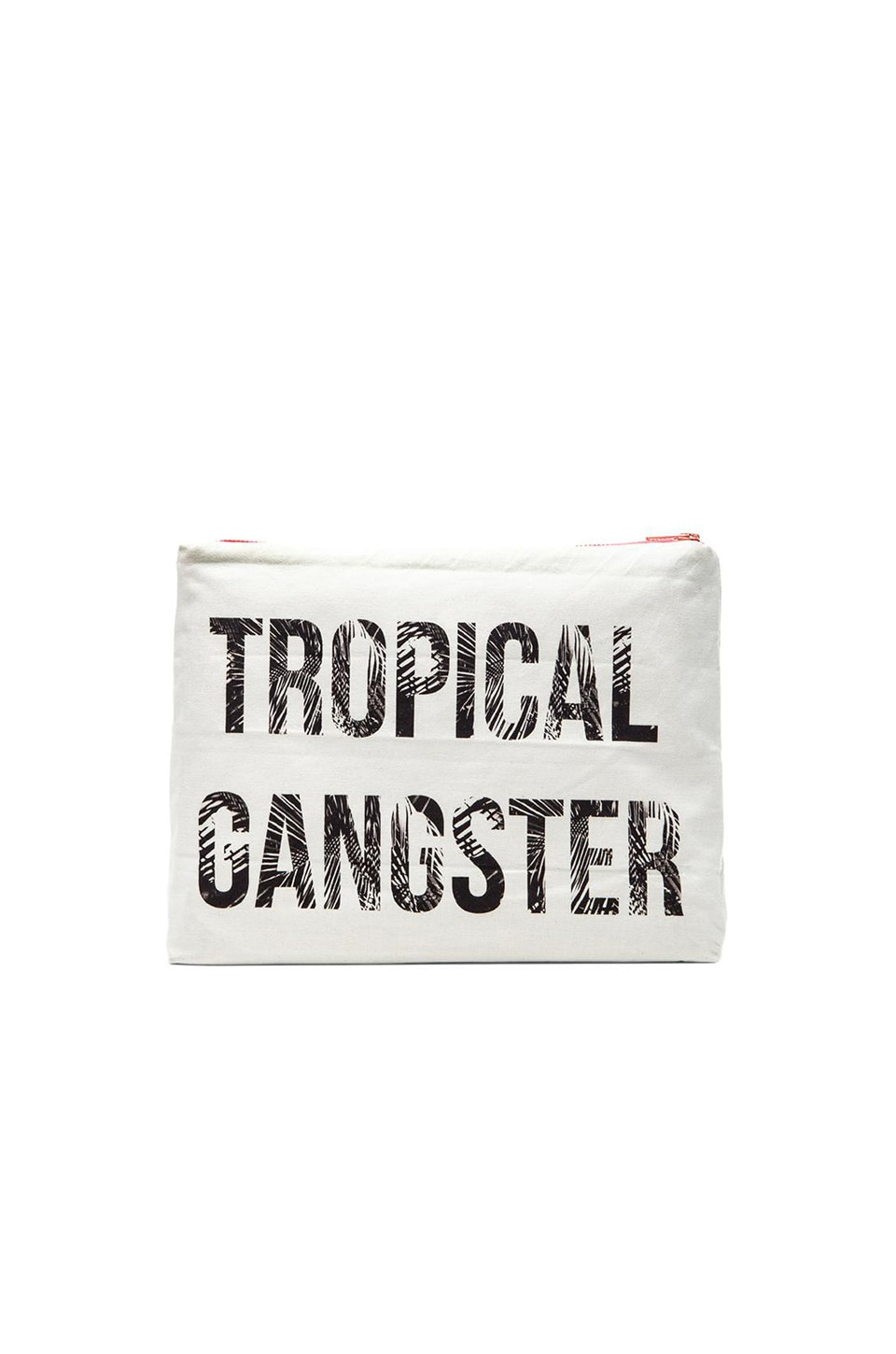 Samudra Tropical Gangster Pouch in White
