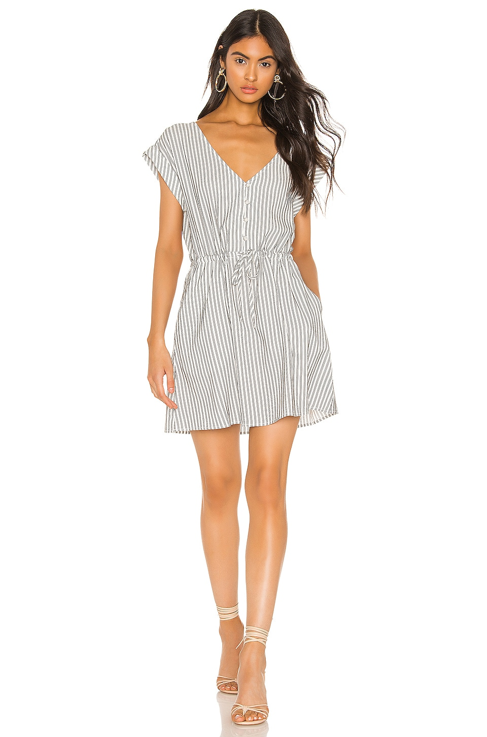 Sanctuary Sundrenched Soft Shirt Dress in Timeless Stripe