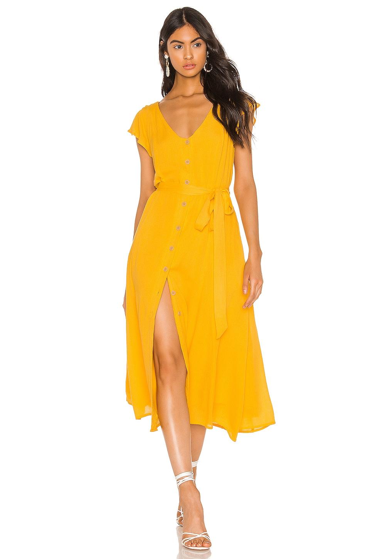 Sanctuary Eden Button Front Dress in Desert Marigold
