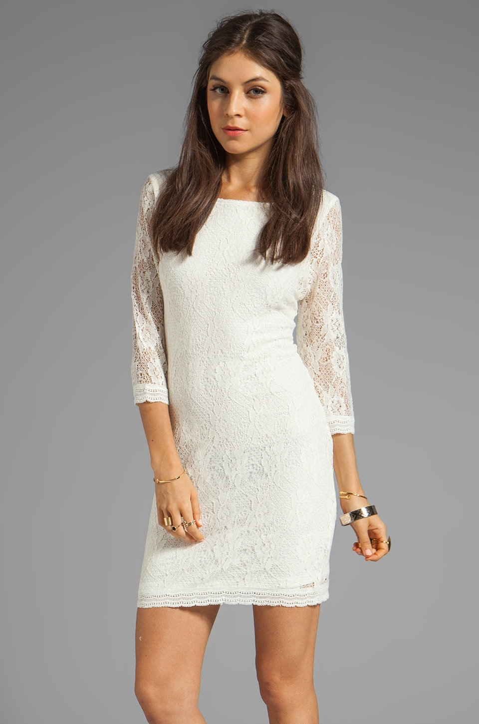 Sanctuary Provence Blues Lace Dress in Ivory