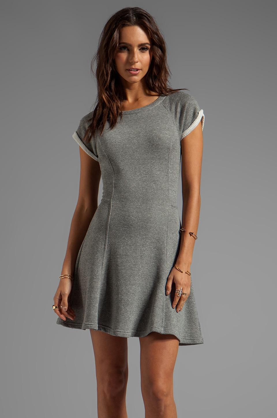 Sanctuary Knits Tennis Dress in Heather Grey