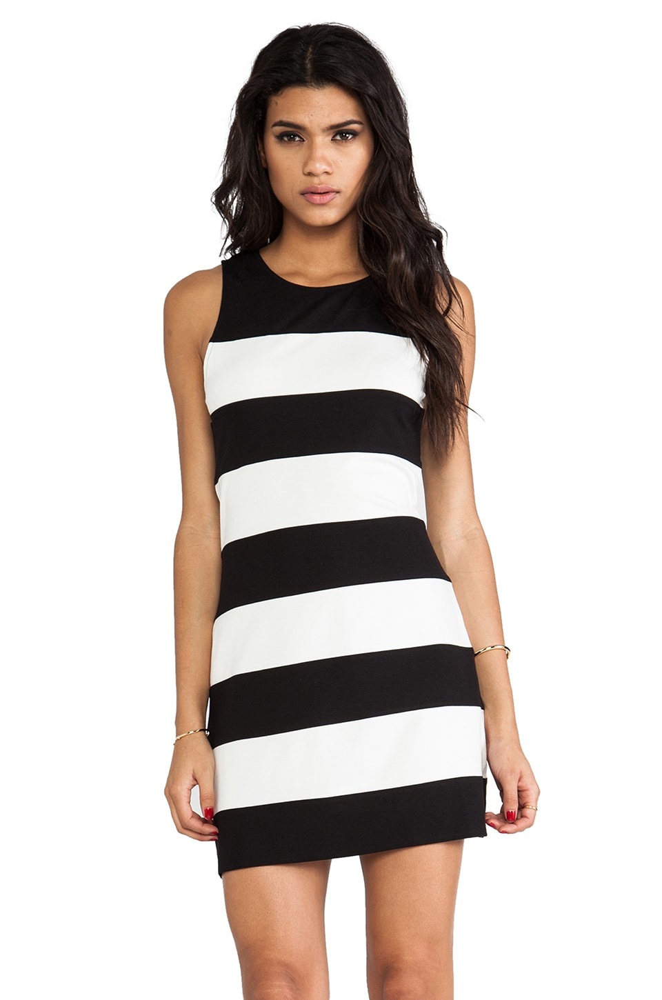 Sanctuary Stripe Molly Shift Dress in Black & White
