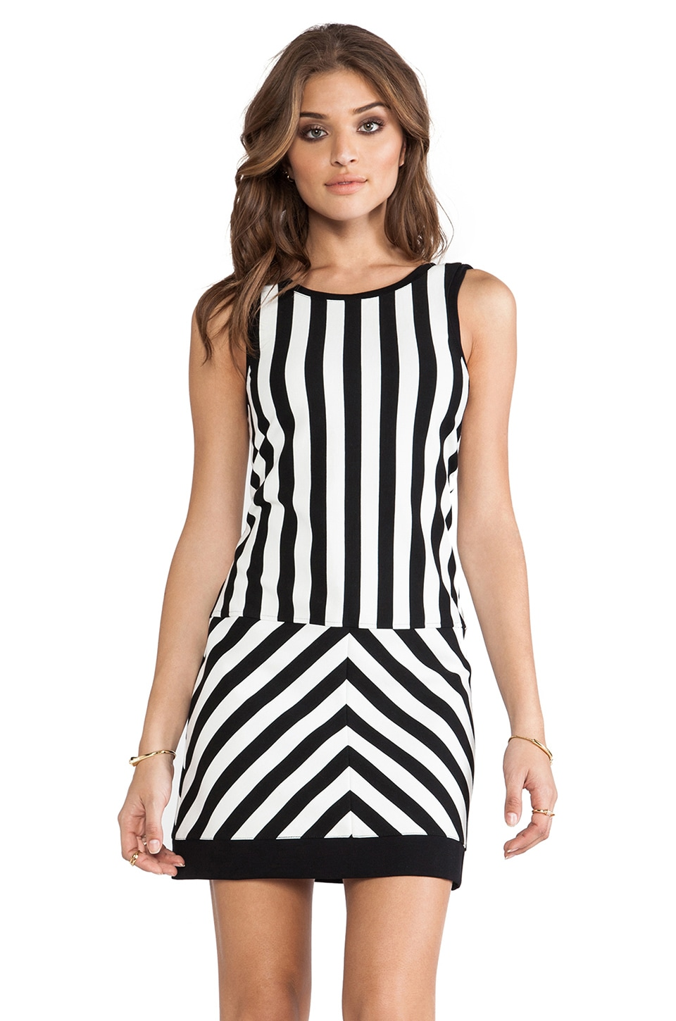 Sanctuary Mondrian Dress in Black & White