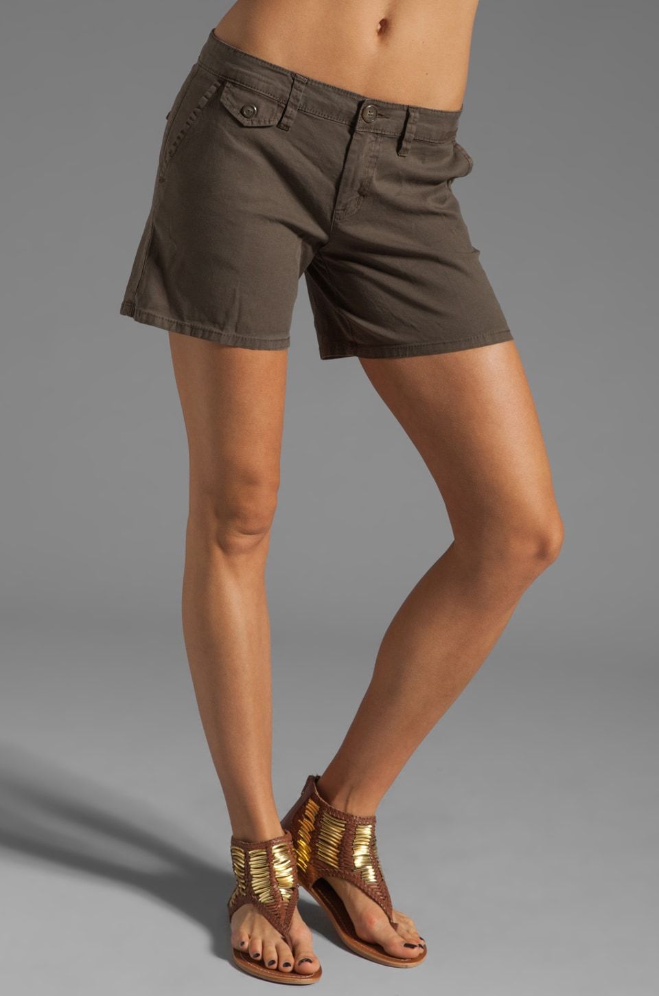 Sanctuary Boyfriend Baggy Short in Olive Green