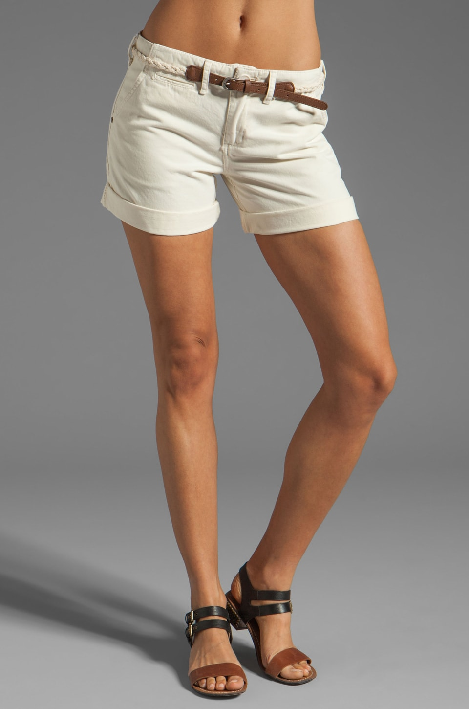 Sanctuary Liberty Roll Short with Belt in Muslin