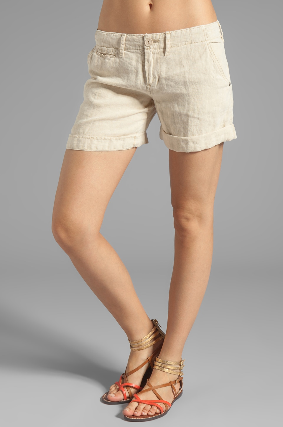 Sanctuary Linen Sunday Liberty Roll Short in Sand