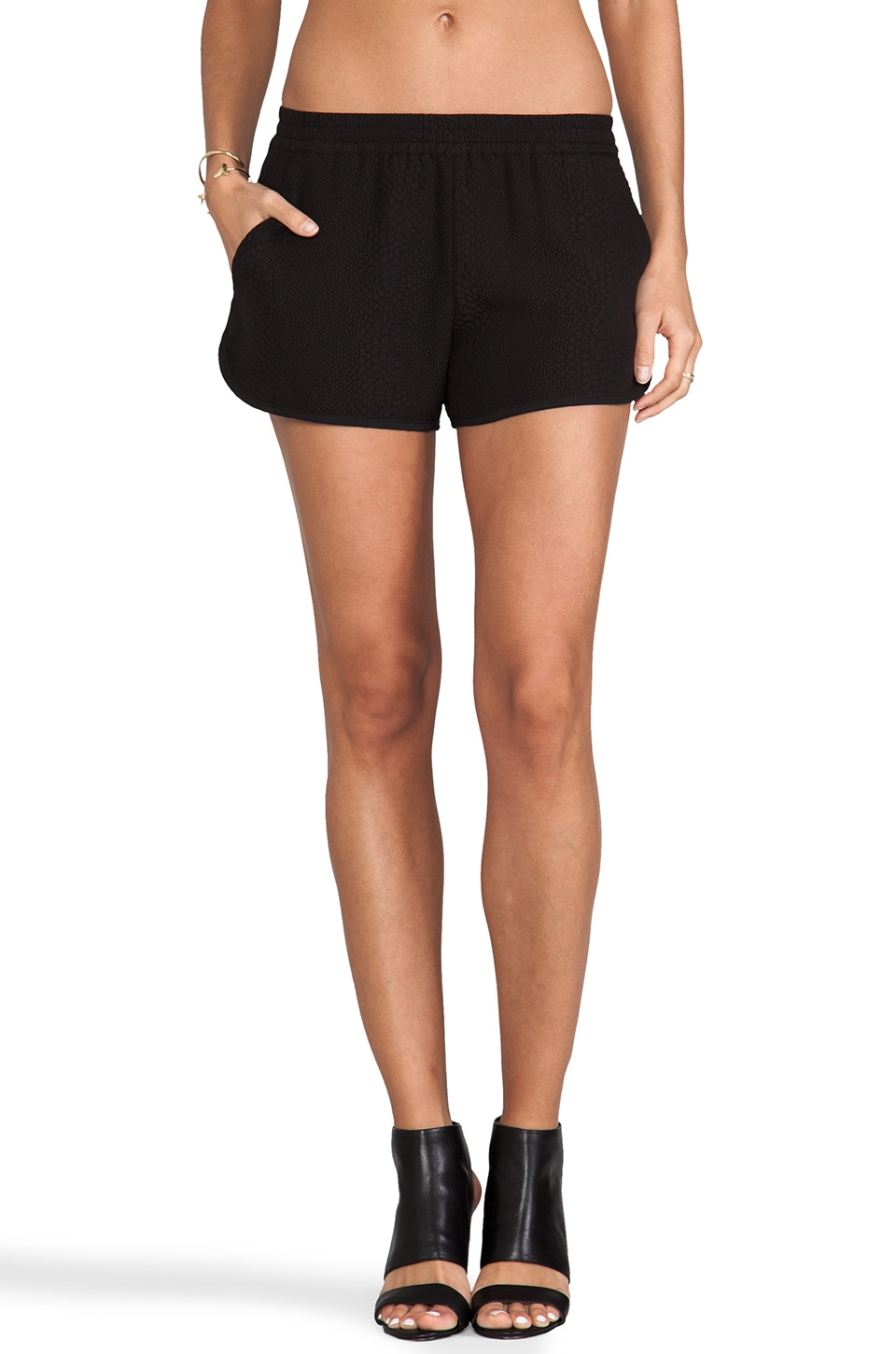 Sanctuary Fashion Track Short in Black