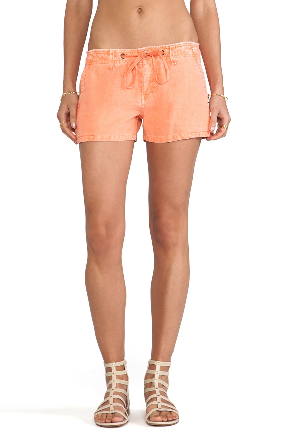 Sanctuary Surf Shorts in Grapefruit