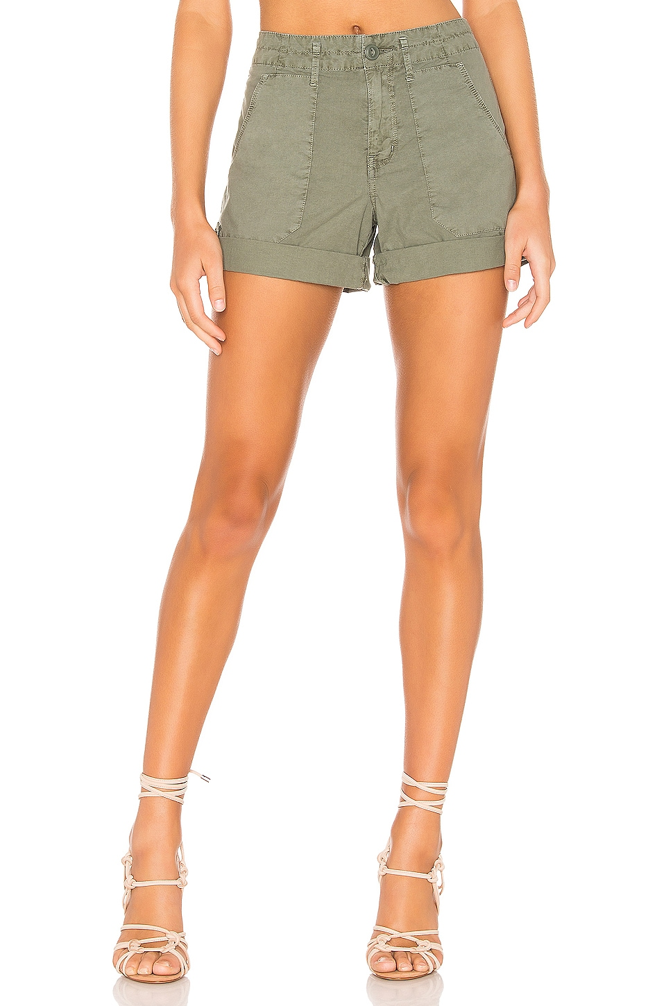Sanctuary Explorer Patch Pocket Short in Washed Peace Green