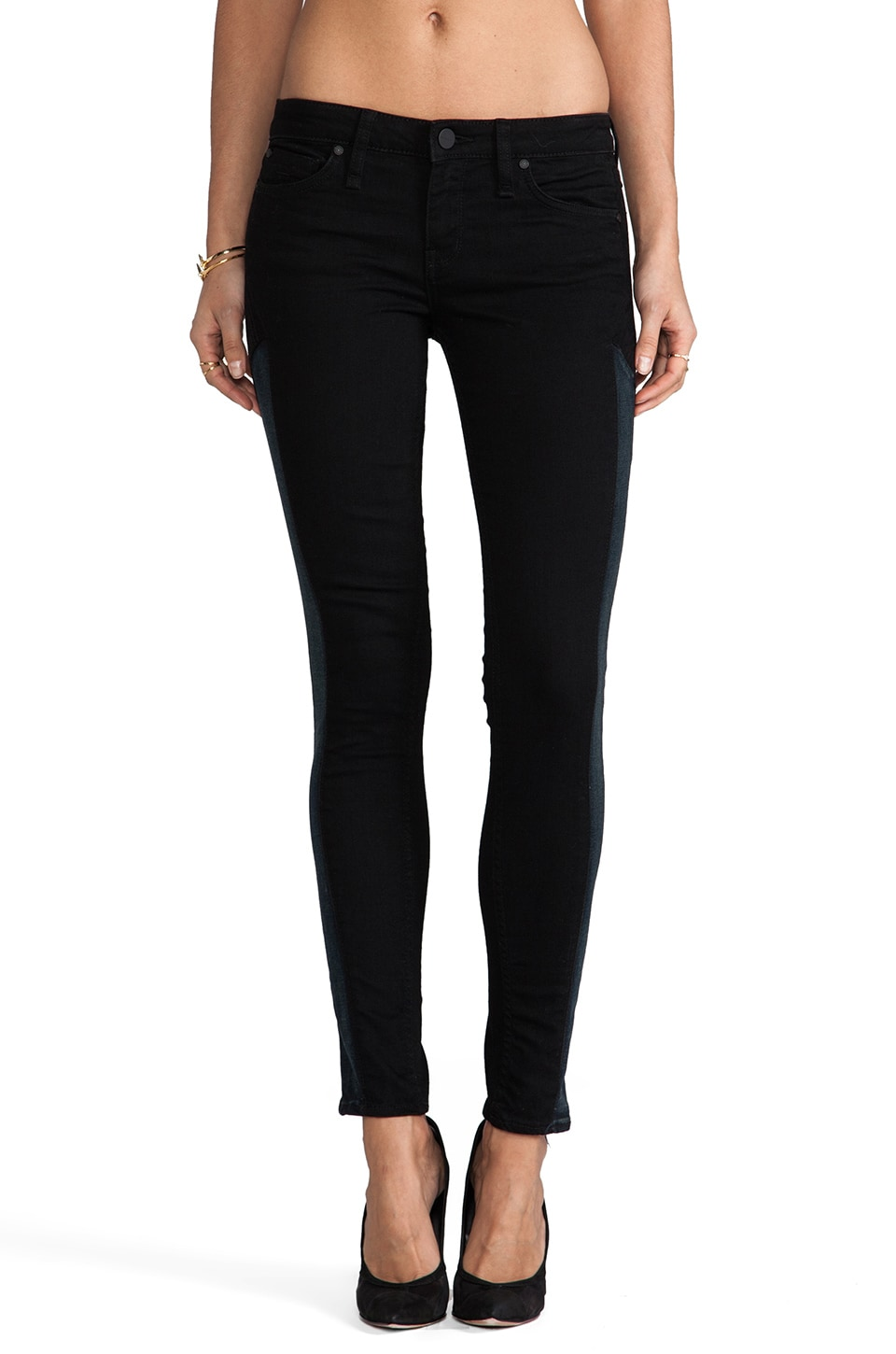 Sanctuary Blue Arrow Head Jeans in Dark Shadows