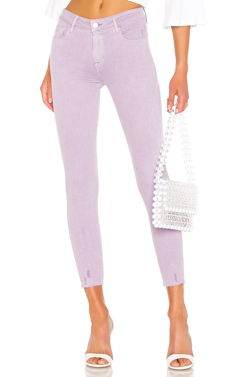 Sanctuary Social Standard Ankle Skinny Jean in Charming Lilac