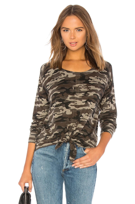 Sanctuary Laguna Tie Front Sweater in Human Nature Camo