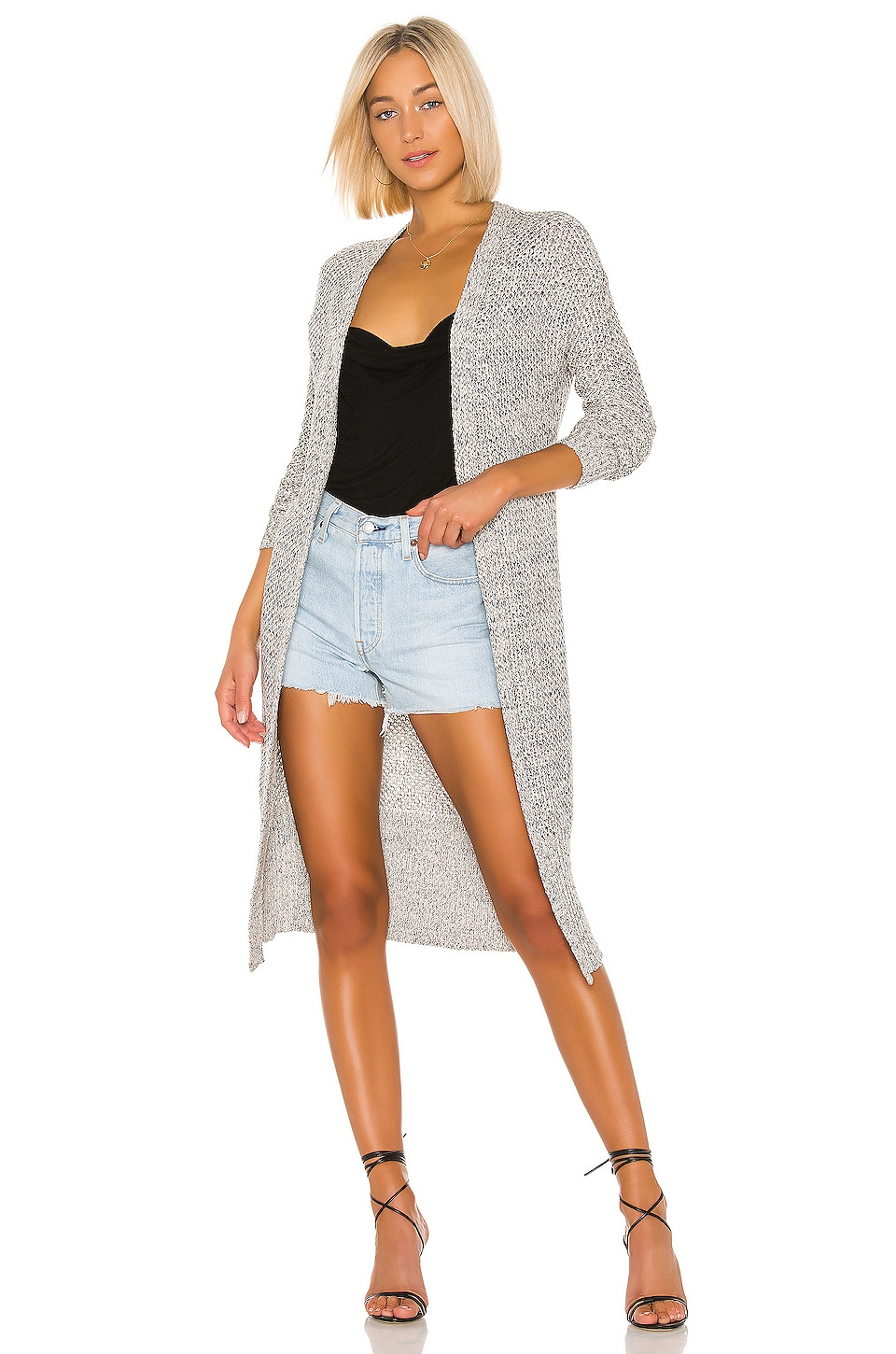 Sanctuary Miami Beach Duster in Sand & Black Iris Multi