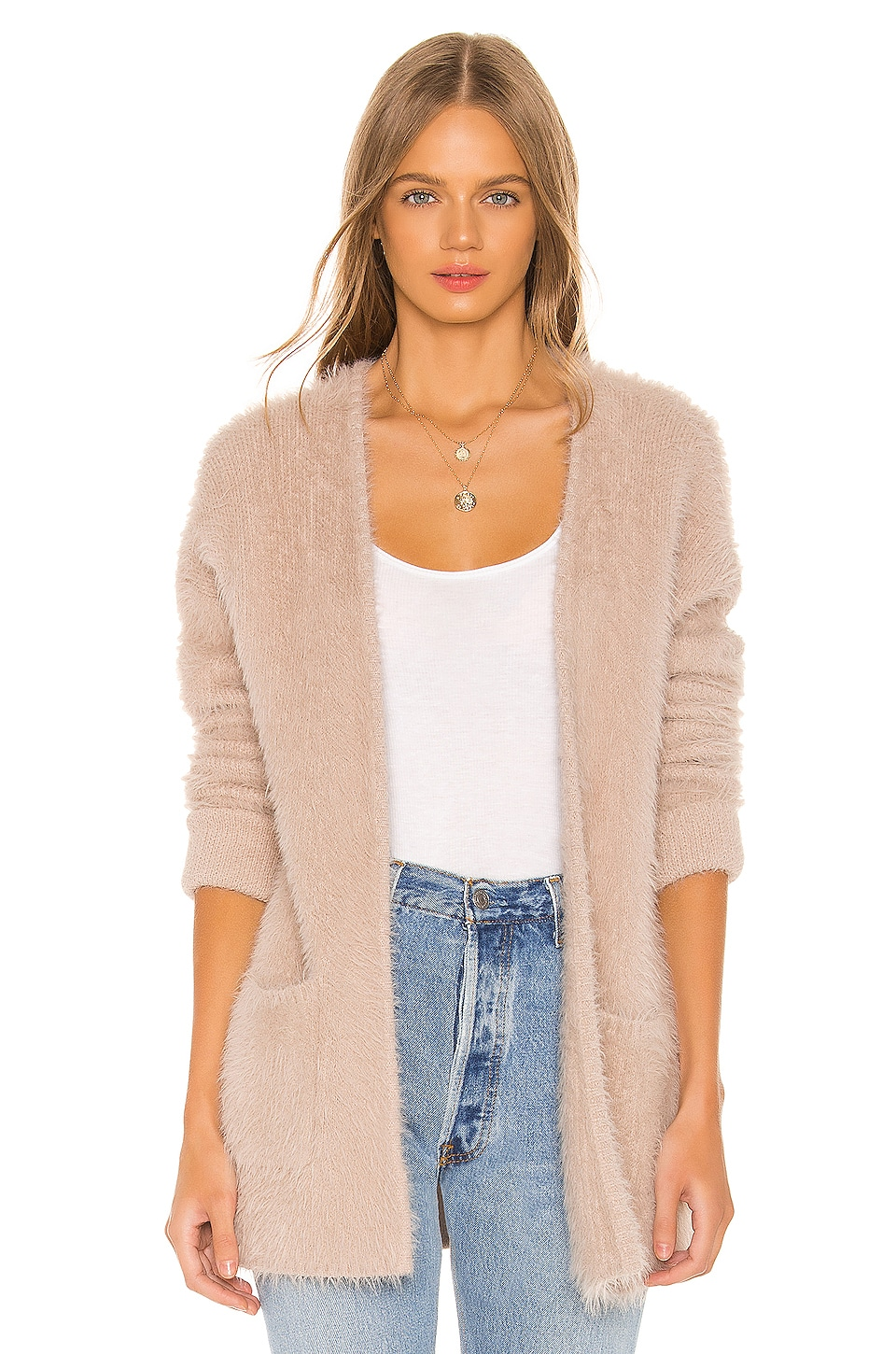 Sanctuary Super Soft Cardigan in Stone
