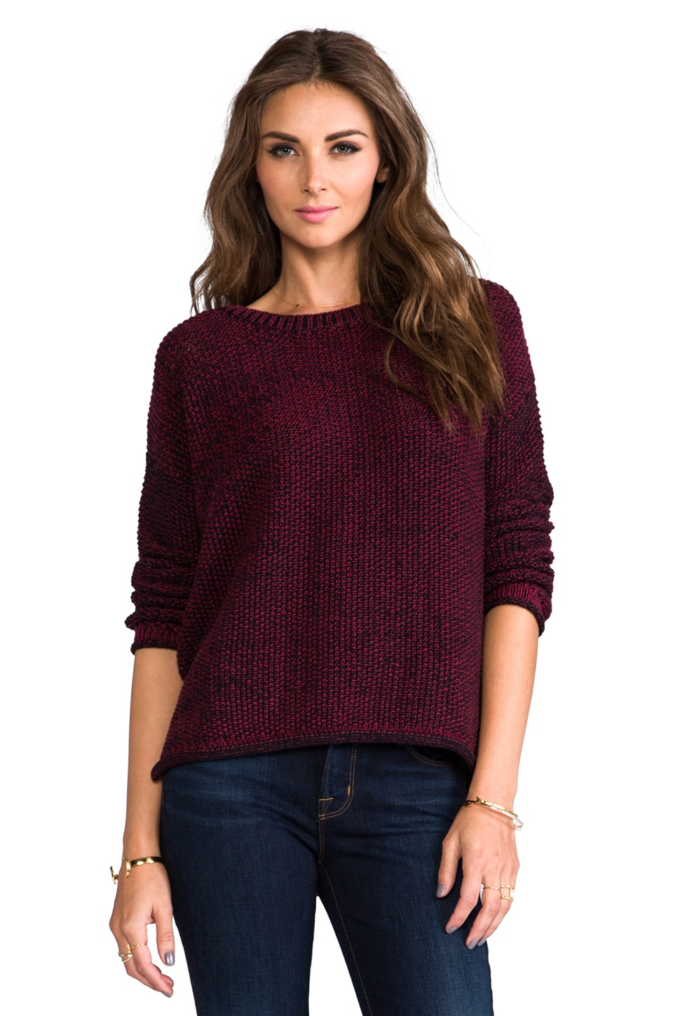 Sanctuary Easy Marle Sweater in Scarlet