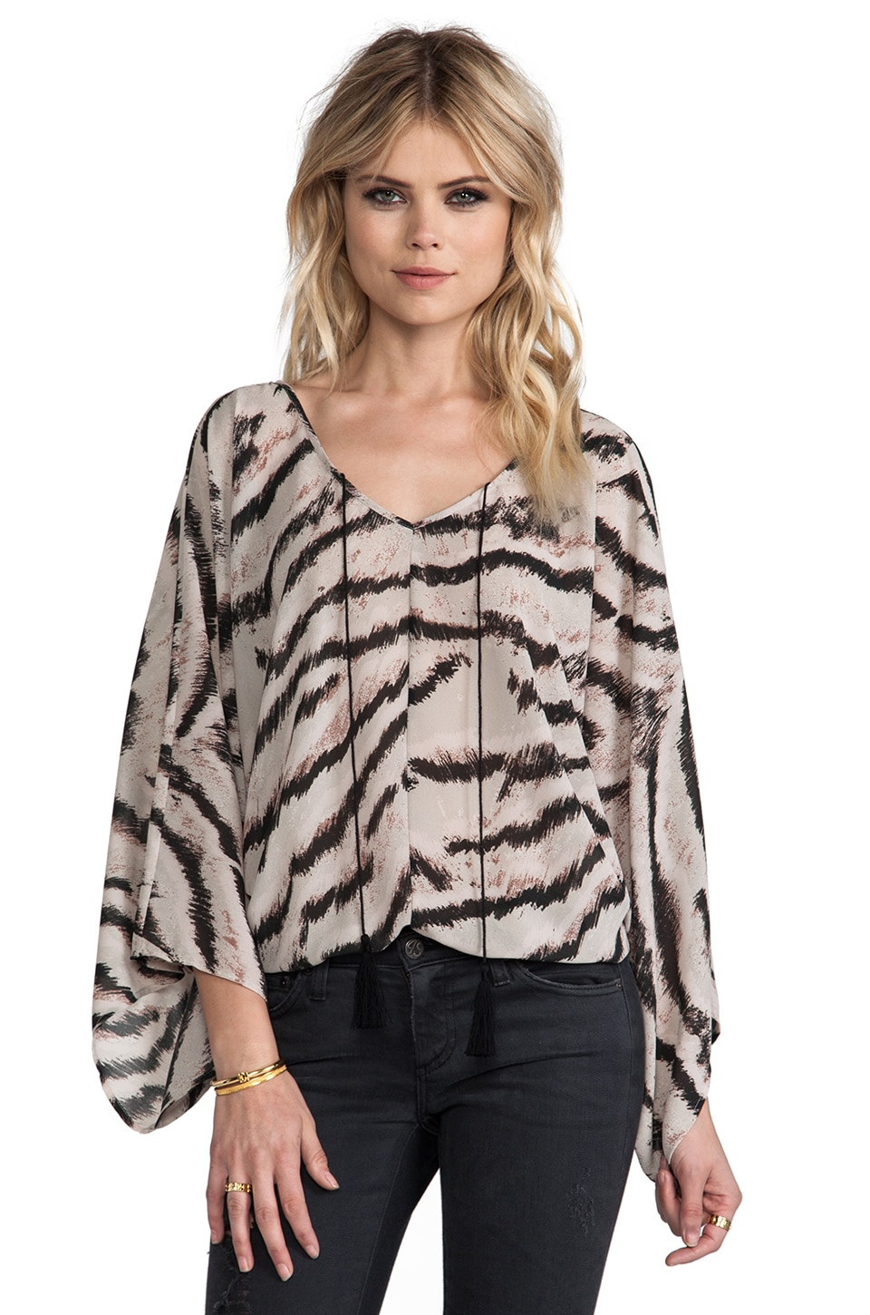 Sanctuary Pocahoncho Sweater in Zebra Print