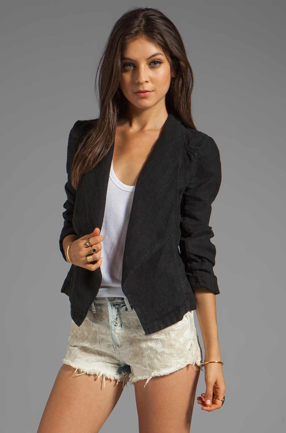 Sanctuary Sunday Tumble Weed Jacket in Black