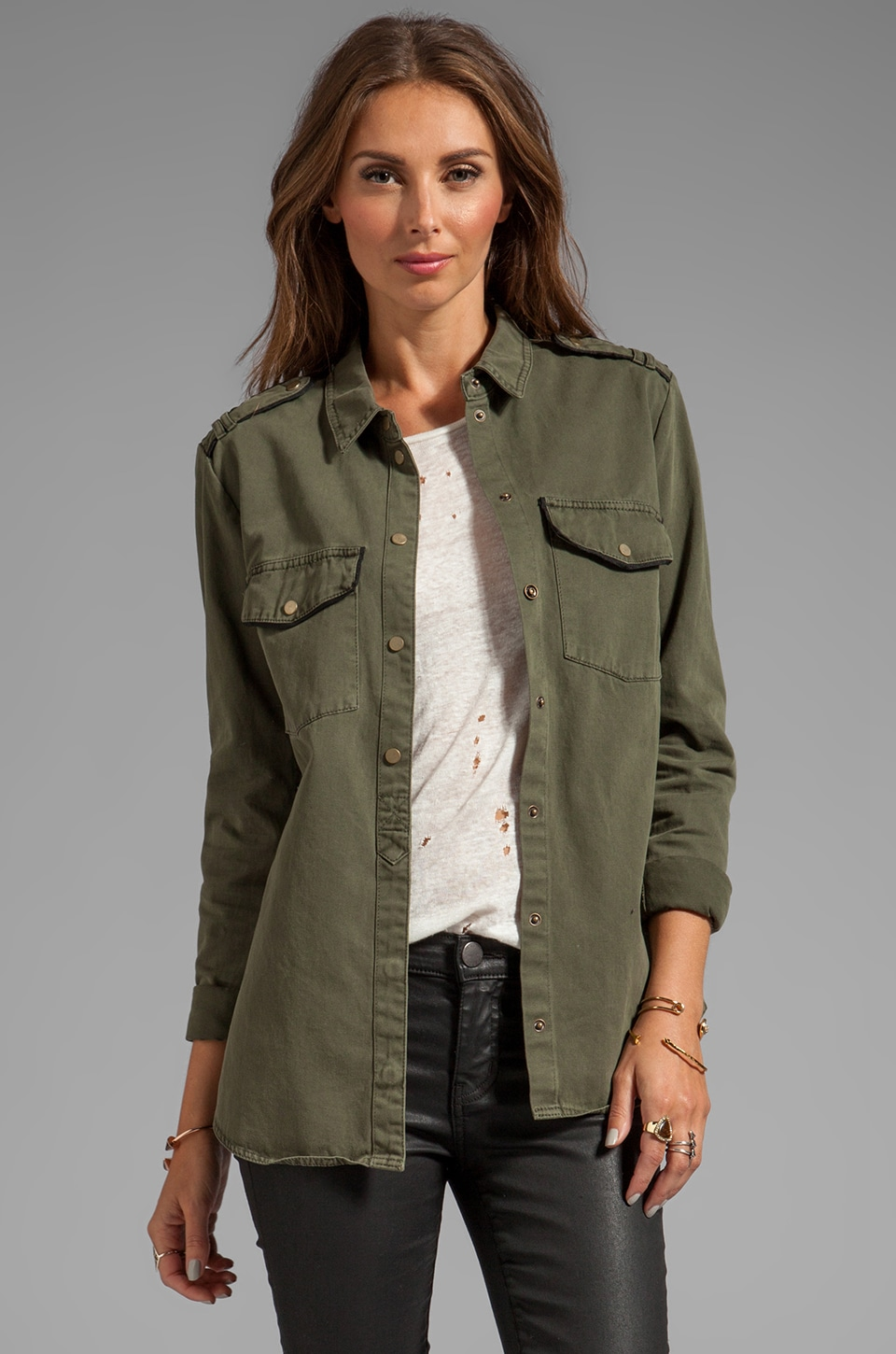 Sanctuary Army Shirt Jacket in Northern Green