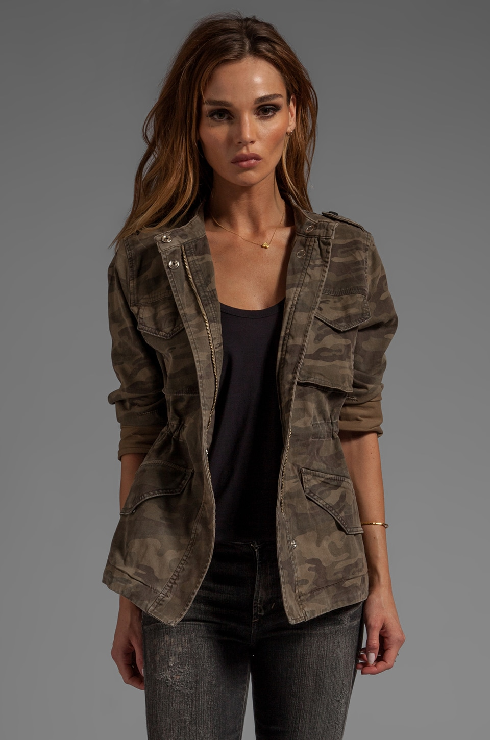 Sanctuary Safari in the City Camo Jacket in Safari