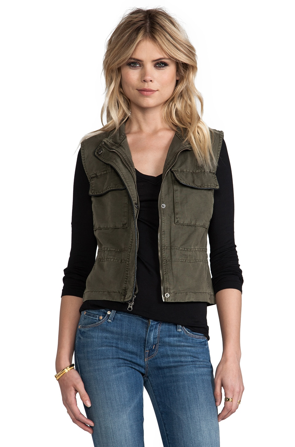 Sanctuary Crop Travel Vest in Legion