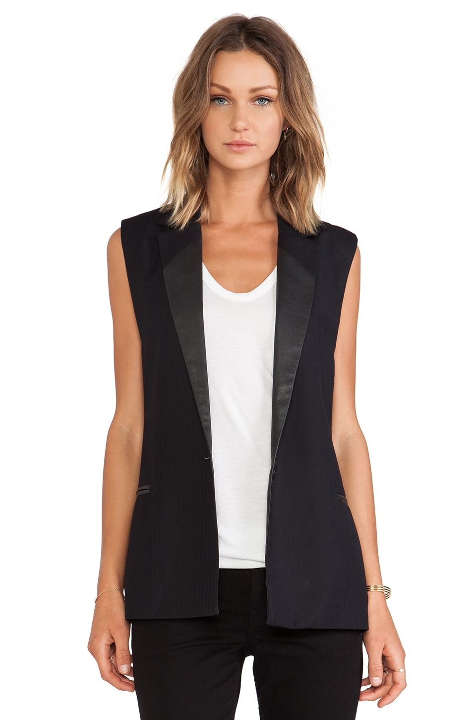 Sanctuary Sleeveless Blazer in Black