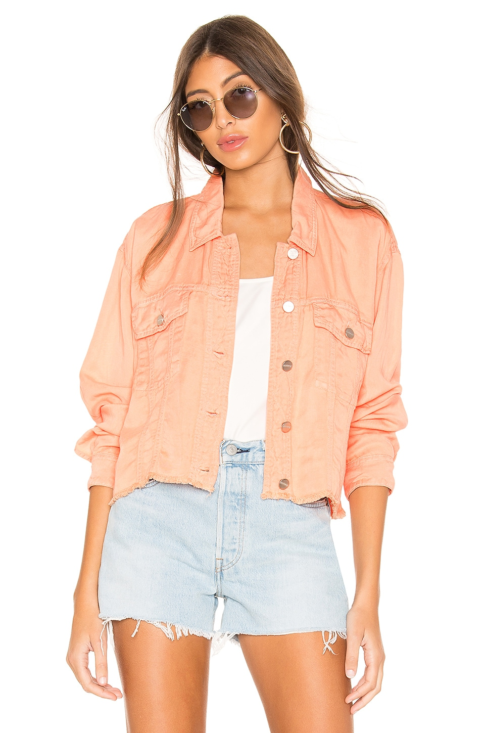Sanctuary Jackets SANCTUARY OPEN ROAD CROPPED TRUCKER JACKET.